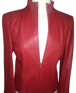 DKNY Red Leather Jacket