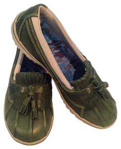 L.L.Bean Waterproof Rain Rain Forest Green Flats