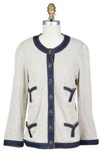 Chanel 07p Denim Knit Lightweight sand Jacket