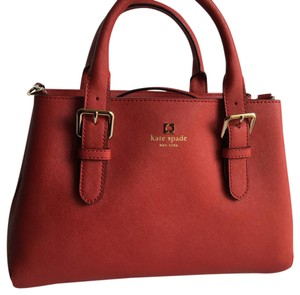 Kate Spade Satchel in Pill Box Red