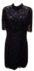 Niteline Vintage Silk Beaded Sparkle Dress