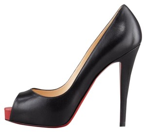 Christian Louboutin Heels Platform Very Prive Black/Red Pumps