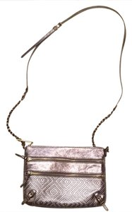 Elliott Lucca Leather Detachable Strap Metallic Cross Body Bag