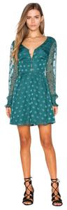 Tularosa short dress Green on Tradesy