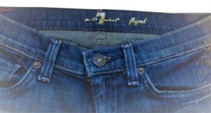 7 For All Mankind Light Wash Girls Blue Boot Cut Jeans-Medium Wash