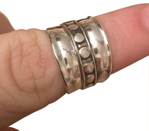 Bali Sterling silver wide Bali boho style band ring
