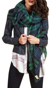 Modcloth ModCloth Loch & Key Plaid Blanket Scarf in Blue and Green
