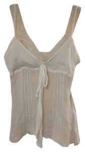 Other Silk 100% Silk Delicate Feminine Top Beige