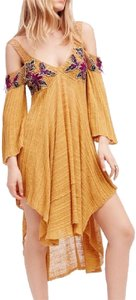 Mustard Maxi Dress by Free People Embroidered