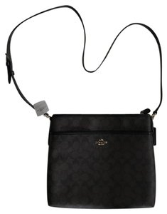 Coach Signature File Signature Cross Body Bag