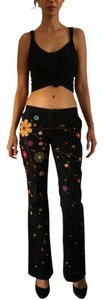 Dolce&Gabbana Dolce & Gabbana Boot Cut Embroidered Cotton-wool Blend Pants