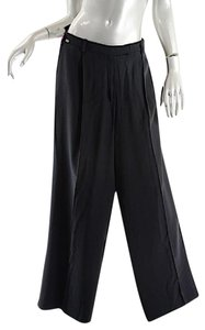 Sonia Rykiel Full Leg Wide Leg Pants Black