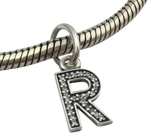 PANDORA Pandora Sterling Silver Initial Letter R with CZ Charm 791330CZ