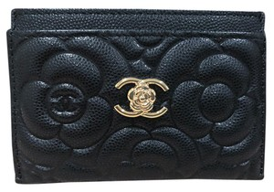 Chanel Chanel Camellia Card Case in Black