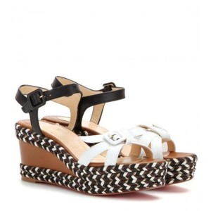 Christian Louboutin Wedge Cataclou Studded Brown, White, Black Platforms