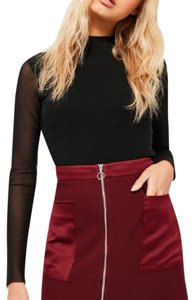 Missguided Mini Skirt Burgundy