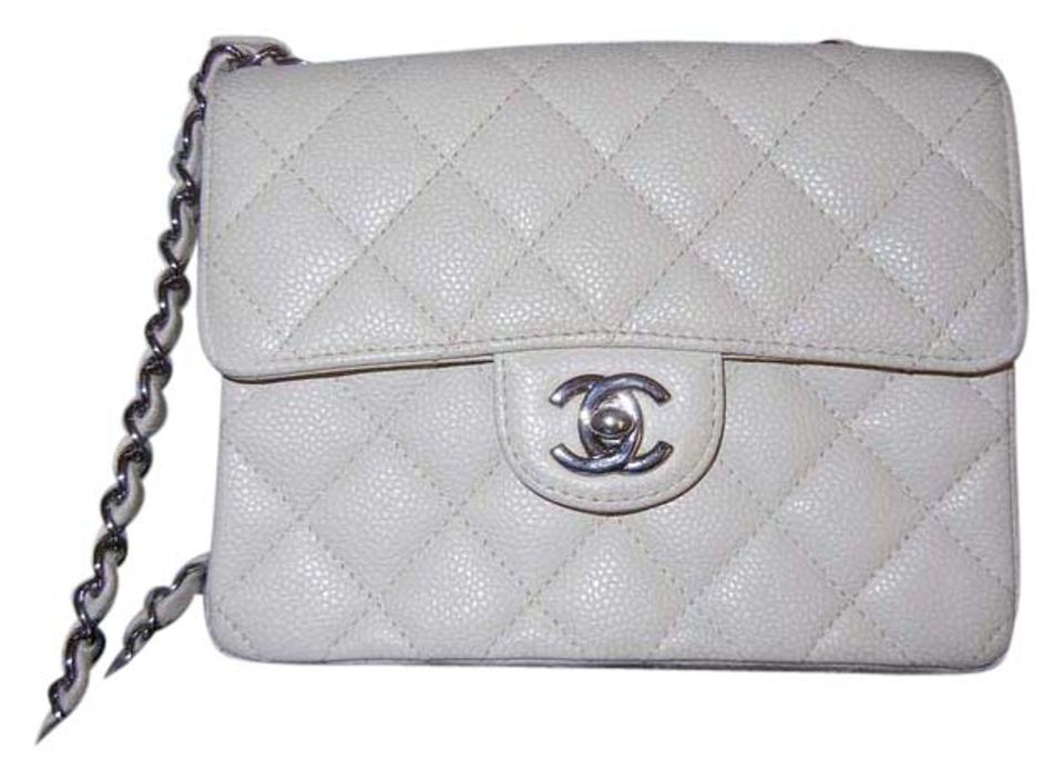 a157fc2200f8 Chanel 2.55 Reissue Classic Mini Flap Crossbody Bone Color/Light Beige Tone  Caviar Leather Shoulder Bag