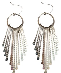 Other Sterling silver bristle drop earrings.