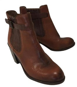 Dolce Vita Leather Buckle Detail Classic Chelsea brown Boots