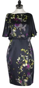 Kay Unger short dress Multi Nwt Silk Floral on Tradesy