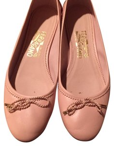 Salvatore Ferragamo powder pink Flats