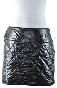 Chanel Cocoon Style Quilted Mini Limitted Nylon Mini Skirt Black
