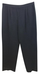 St. John Black Knit Straight Pants