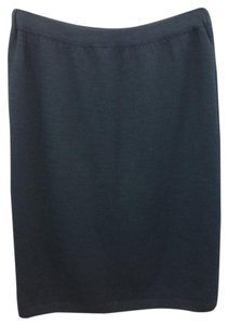St. John Black Knit Skirt