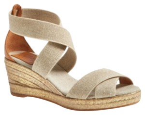 Tory Burch khaki/gold Wedges