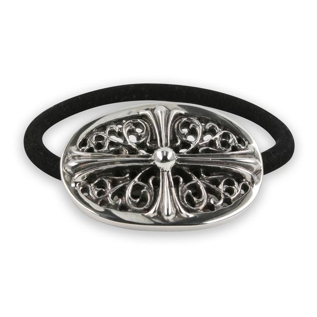 Item - Silver Ch Oval Floral Cross Hairband Bracelet Hair Accessory