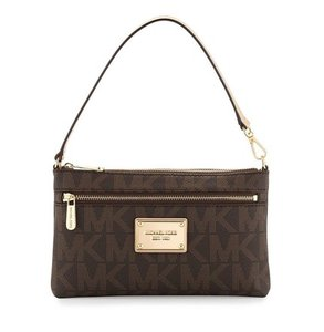 Michael Kors Jet Set Monogram Wristlet in Brown