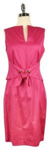 David Meister short dress Pink Nwt Sheath on Tradesy