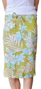 Other Straight Aloha Hawaiian Tropical Skirt Lime Green