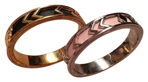 House of Harlow 1960 House of Harlow 1960 Aztec Bangle with Black Leather / Pink Leather.
