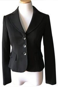 The Limited Jacket Peplum Black Blazer