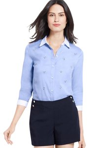 Ann Taylor Button Down Shirt Blue