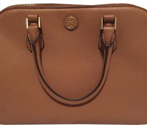 Tory Burch Leather Satchel in Tiger Eye (Bark)