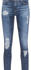 AG Adriano Goldschmied Stilt Crop Cigarette Capri/Cropped Denim