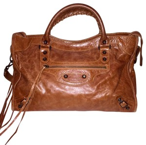 Balenciaga Satchel in Beautiful Autumn Caramel