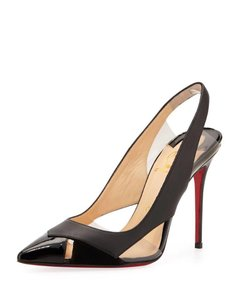 Christian Louboutin Slingback Air Chance Pvc Black Sandals