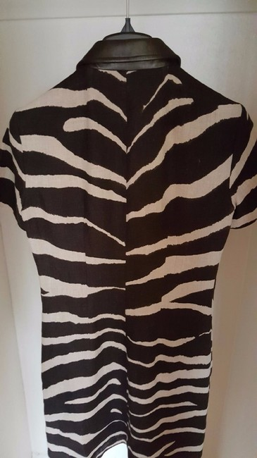 Michael Kors short dress Leather Hemp Linen Mk Animal Print on Tradesy