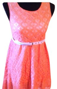 Esley short dress Coral & Grey on Tradesy