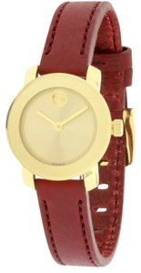 Movado Movado Bold Red Leather Ladies Watch 3600343