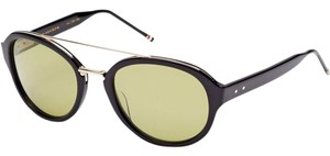 Thom Browne NEW Thom Browne TB 504A 12K Gold Plated Wired Mirrored Sunglasses