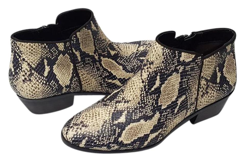 a042acb554b3 Sam Edelman Ivory Petty Rock Snake Print Ankle Boots Booties Size US ...