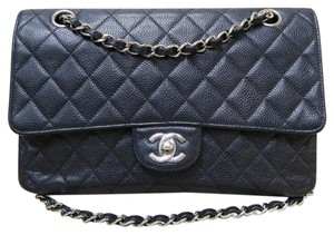 Chanel Caviar Medium Double Flap Shoulder Bag