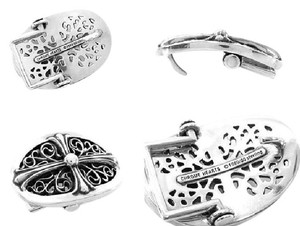 Chrome Hearts SMALL FLORAL CROSS OVAL BELT BUCKLE