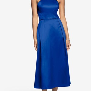 Sapphire Blue Gather &gown Dress