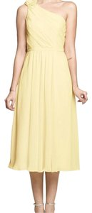 Soft Yellow Gather And Gown Dress