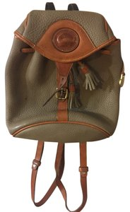 Dooney & Bourke & Db Leather Gold Hardware Backpack